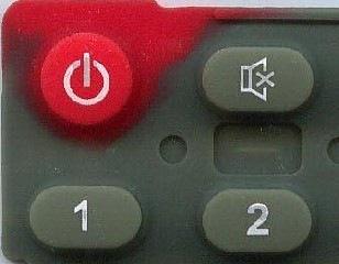 rubber keypad double colors