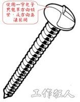 one way screw,防拆螺絲,安全螺絲,單向鎖緊螺絲