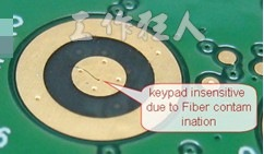 dust on keypad area,按鍵線路上有灰塵
