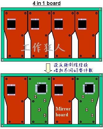 SMT採用「陰陽拼板」或「鴛鴦拼板」使用上的限制