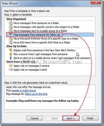 讓Outlook自動標示新郵件的權重