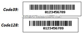 code39 code128