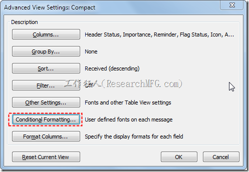 如何用Outlook2010(英文版)來設定電子郵件的顏色管理