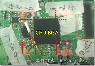 BGA錫裂,使用應變片(Strain Gauge)量測電路板到底那個環節產生較大變形量