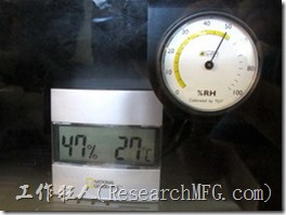 收藏家電子防潮箱V-02。防潮箱插電後運轉120分鐘後濕度已經降到50%RH以下了。