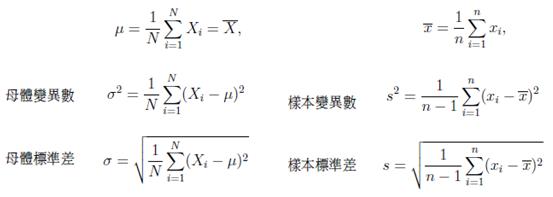 為什麼統計樣本標準差除(n-1)而母體標準差則除n?