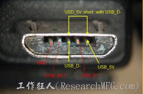 micro_USB-corrosion。之前公司的產品在【micro USB】電源連接器的地方有出現過金手指氧化,且有疑似長銅綠的不良現象。我們的USB電源設計還特別把USB_D+與USB_D-對調過來,以避免客戶使用時不小心發生USB_D-與5V靠的太近而造成電源短路的問題
