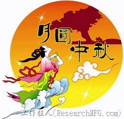 電子製造,工作狂人(ResearchMFG.com)祝大家中秋佳節快樂!